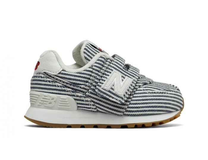 35aadc5f0 Inicio  Zapatillas de niños New Balance 574 Beach Chambray Infant. Blanco -azul