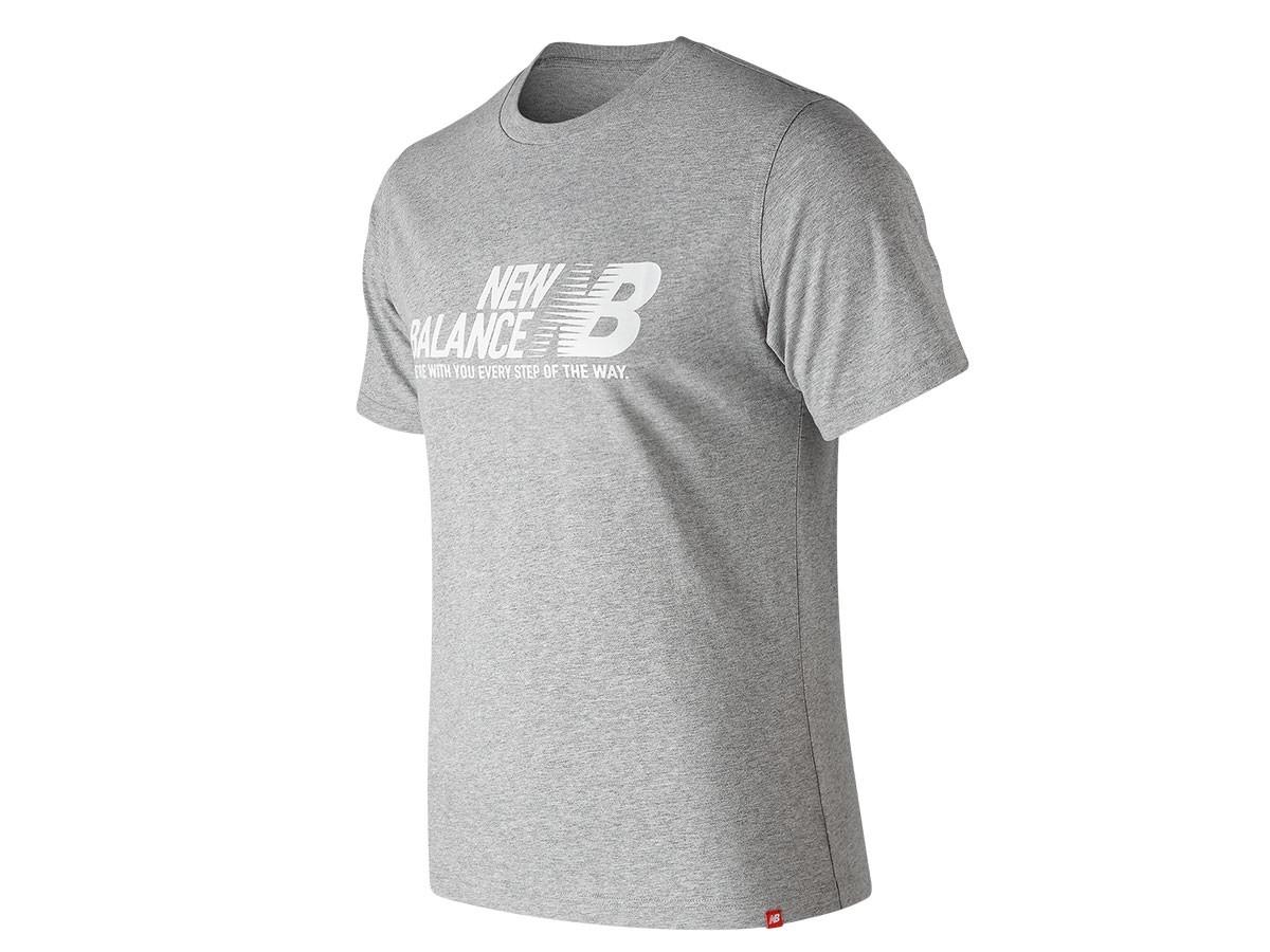Remera de hombre New Balance Essentials Step Short Sleeve Tee MT91590