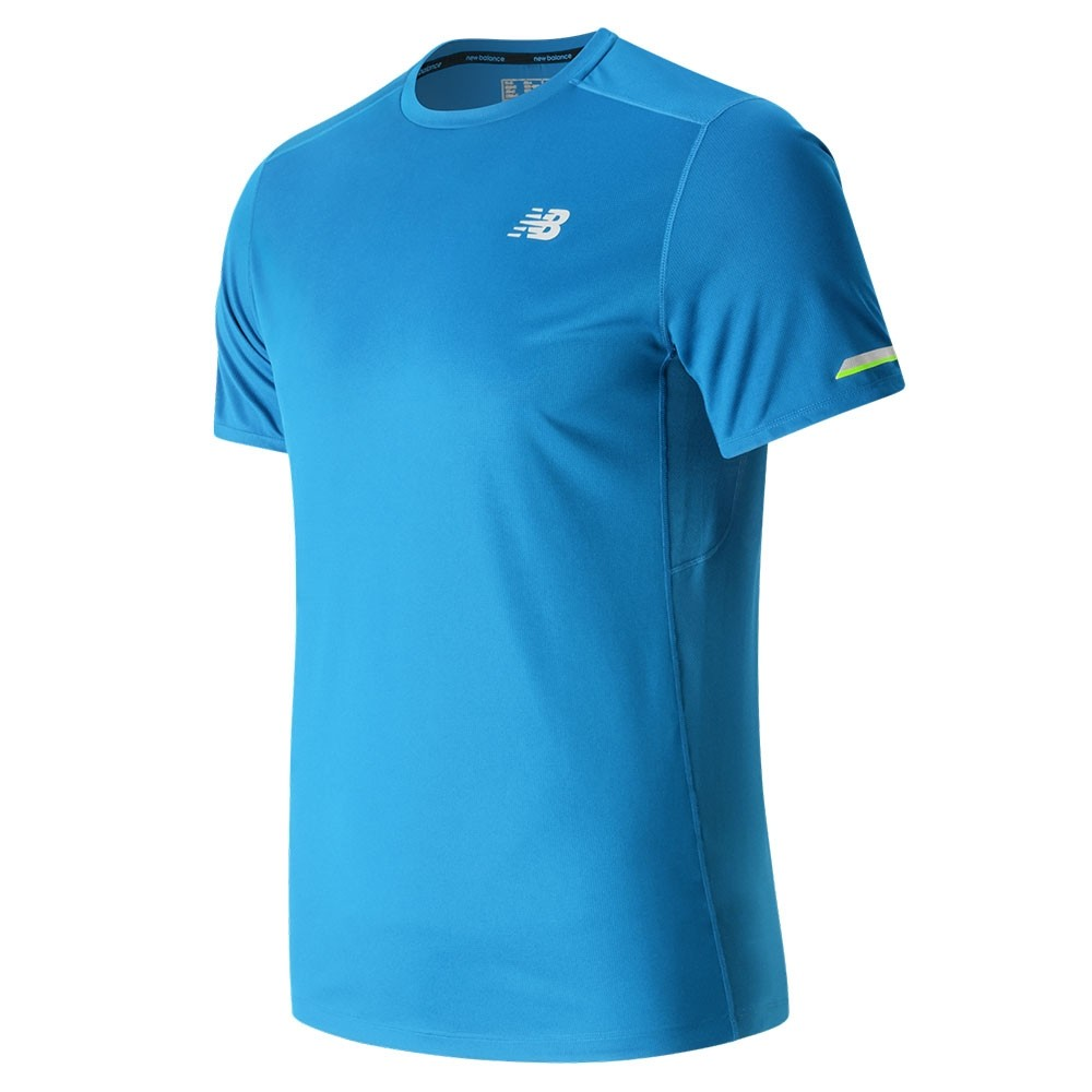 Remera New Balance Hombre Running Ice Short Sleeve MT63223