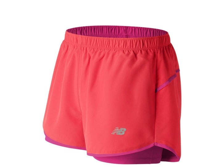 Short New Balance Mujer 2 in 1 Woven WS71852TDP