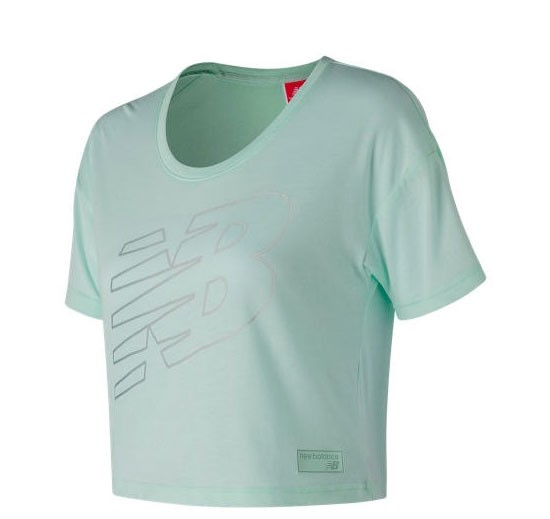 Remera de mujer New Balance  Athletics Cropped Tee WT73508
