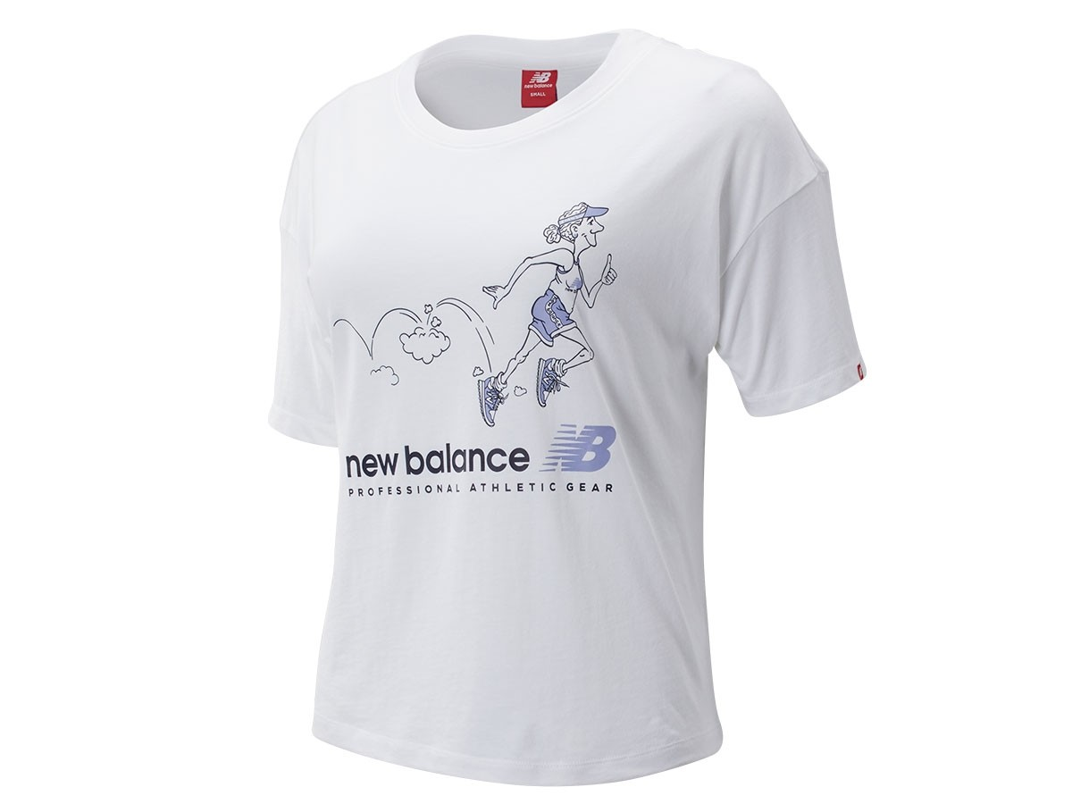 Remera de mujer New Balance Athletics Archive Throwback WT93589