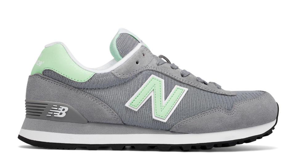 new balance gris y verde agua